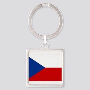 Czech Republic Square Keychain
