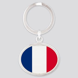 France Oval Keychain