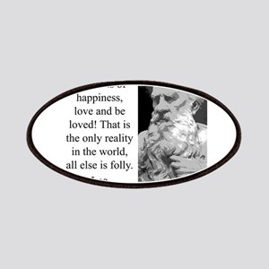 Seize The Moments Of Happiness - Leo Tolstoy Patch