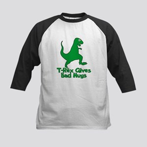 T-Rex Gives Bad Hugs Kids Baseball Jersey