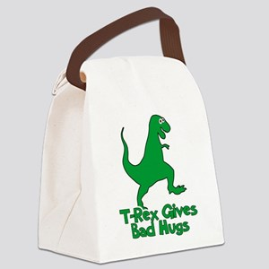 T-Rex Gives Bad Hugs Canvas Lunch Bag