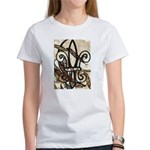 Feathered Fleur de Lis Women's T-Shirt