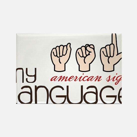 My Language Rectangle Magnet