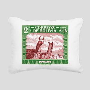 Antique 1939 Bolivia Llamas Postage Stamp Rectangu