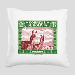 Antique 1939 Bolivia Llamas Postage Stamp Square C