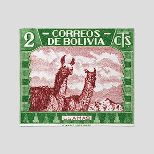 Antique 1939 Bolivia Llamas Postage Stamp Stadium