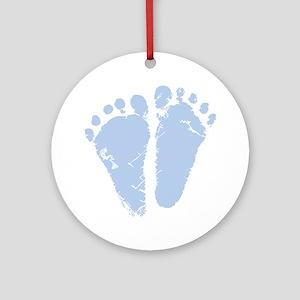 Blue Feet Ornament (Round)