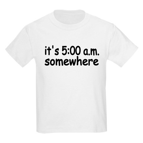 IT'S FIVE AM SOMEWHERE FUNNY CUTE BABY INFANT Kids