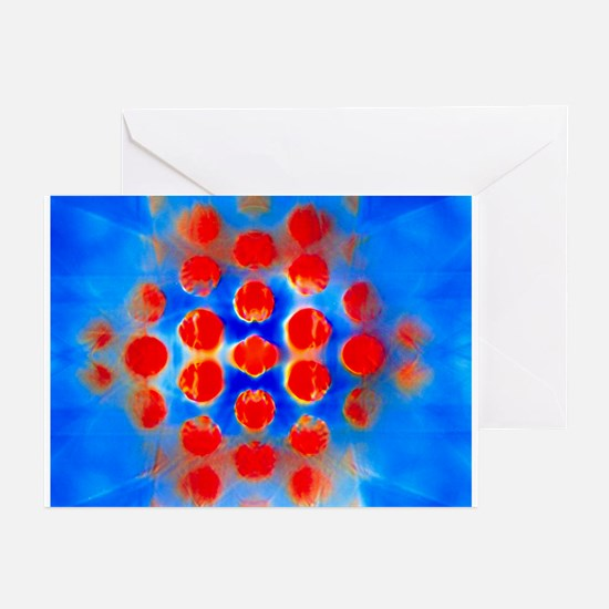 Pure titanium diffraction pattern - Greeting Cards