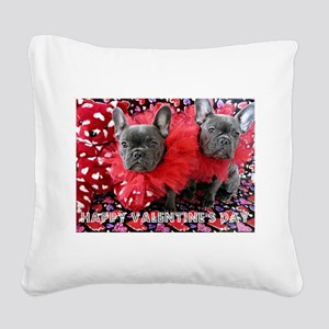 Valentine's Day card Square Canvas Pillow