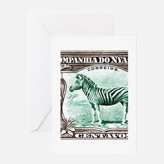 1921 Nyassa Company Zebra Postage Stamp Greeting C