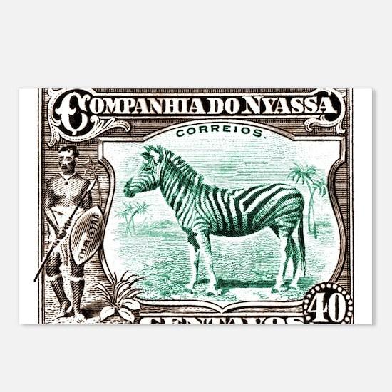1921 Nyassa Company Zebra Postage Stamp Postcards