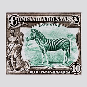 1921 Nyassa Company Zebra Postage Stamp Stadium B