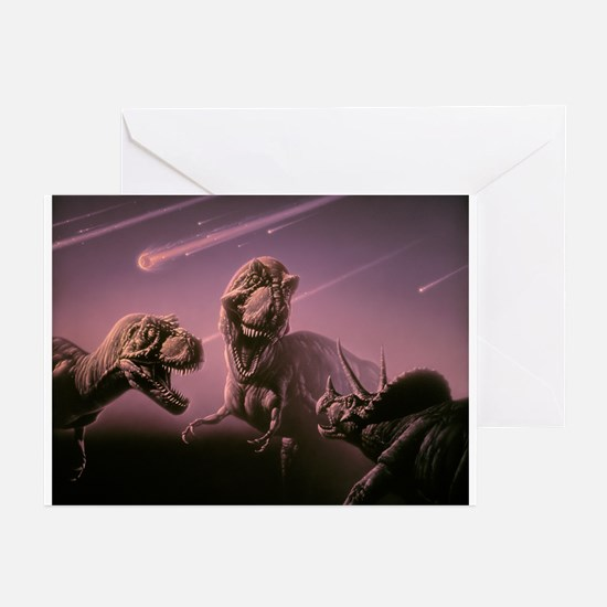 Death of dinosaurs - Greeting Cards (Pk of 10)