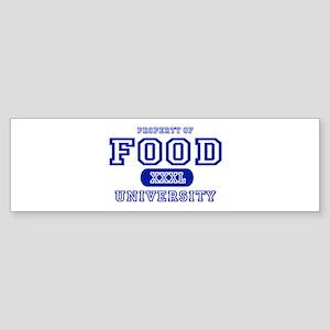 Food University Property Bumper Sticker