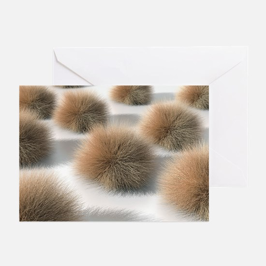 Fungal skin infection, artwork - Greeting Cards (P