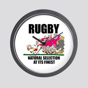 Natural Selection Rugby Wall Clock
