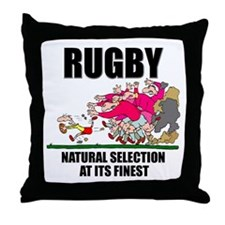 Natural Selection Rugby Throw Pillow