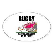 Natural Selection Rugby Oval Sticker