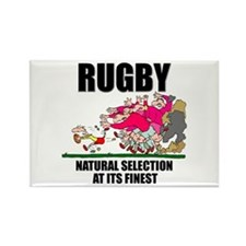 Natural Selection Rugby Rectangle Magnet