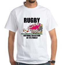 Natural Selection Rugby White T-Shirt