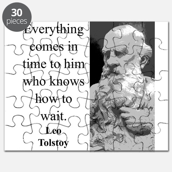 Everything Comes In Time - Leo Tolstoy Puzzle