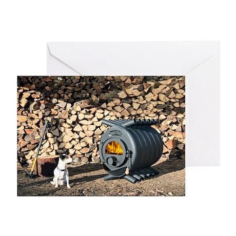 Wood burning stove - Greeting Cards (Pk of 10)