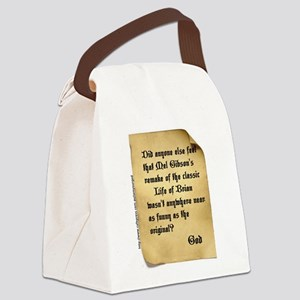 God and Mel Gibson Canvas Lunch Bag