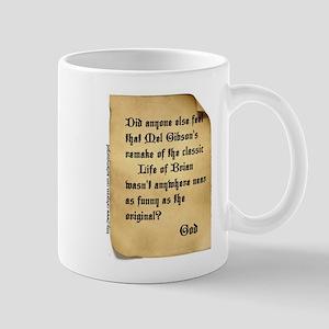 God and Mel Gibson Mug