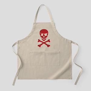Red Skull and Cross Bones Pirate Apron