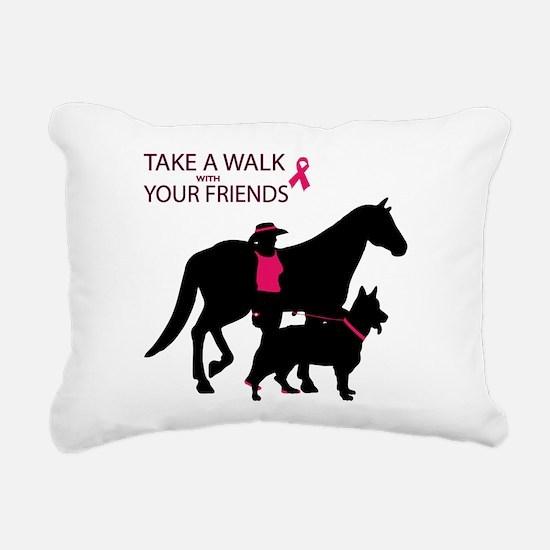 AwalkWithFriends Rectangular Canvas Pillow