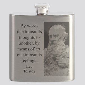 By Words One Transmits - Leo Tolstoy Flask