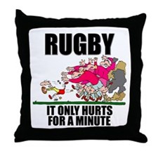 It Only Hurts Throw Pillow