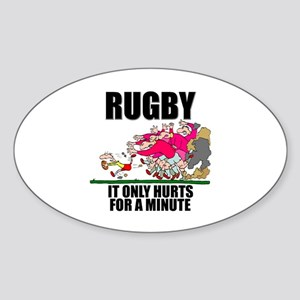 It Only Hurts Oval Sticker