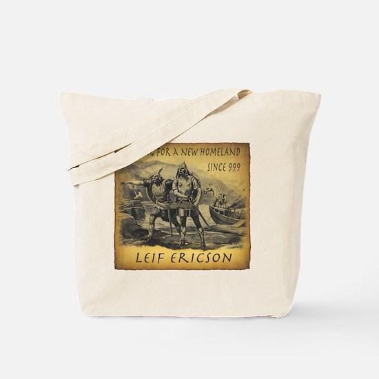 Leif Ericson Tote Bag