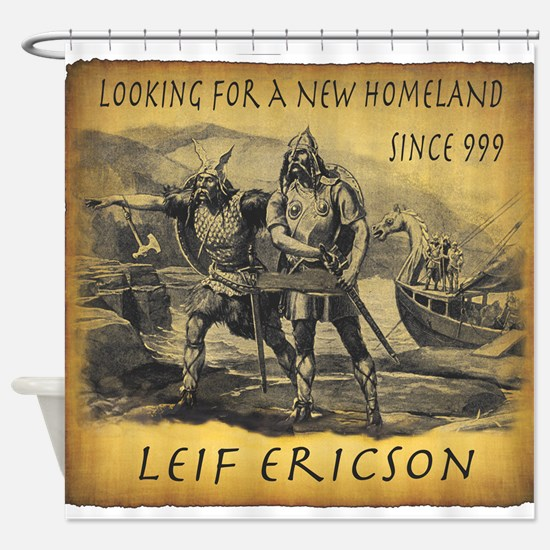 Leif Ericson Shower Curtain