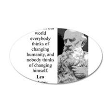 And Yet In Our World - Leo Tolstoy Wall Decal
