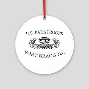 U.S.Paratroops Fort Bragg Ornament (Round)