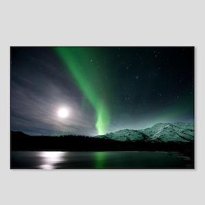 Aurora borealis and Moon - Postcards (Pk of 8)