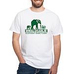 Mwaluganje Elephant Sanctuary logo White T-Shirt