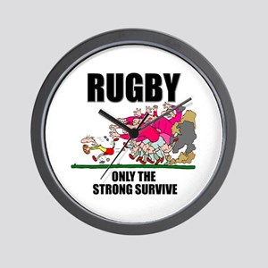Only The Strong Rugby Wall Clock