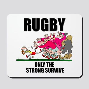 Only The Strong Rugby Mousepad