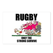 Only The Strong Rugby Postcards (Package of 8)