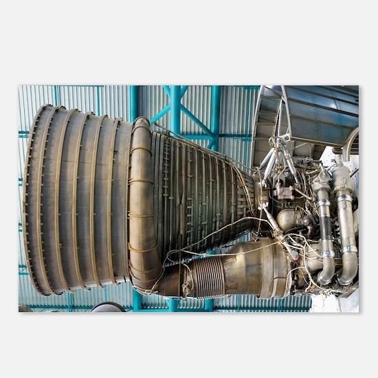 F1 engine on the Saturn V rocket - Postcards (Pk o