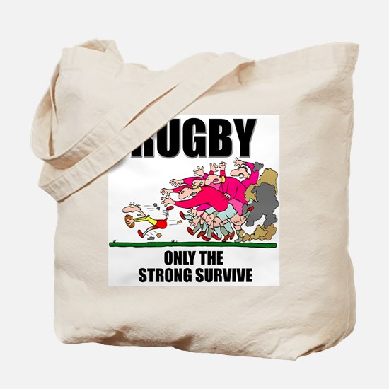 Only The Strong Rugby Tote Bag