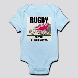 Only The Strong Rugby Infant Bodysuit