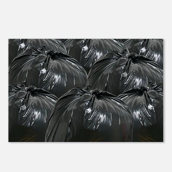 Full dustbin bags - Postcards (Pk of 8)