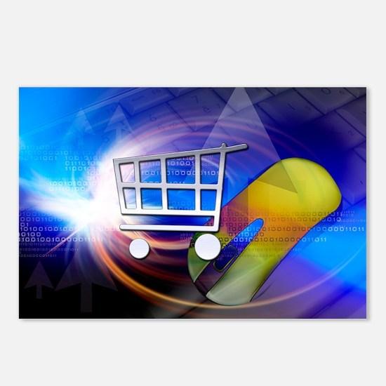 Internet shopping, conceptual artwork - Postcards