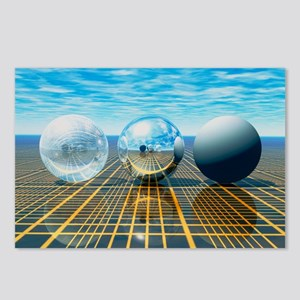 Light reflection from 3 spheres - Postcards (Pk of