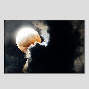 Partial lunar eclipse - Postcards (Pk of 8)